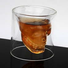 Christmas Halloween Gifts Doomed Skull Glass Wine mug Beer Glasses Shot Crystal Skull Head Vodka Shot Wine glasses Travel Kit
