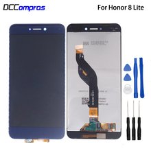 цена на Original For Huawei Honor 8 Lite PRA-TL10 AL00 LCD Display Touch Screen Digitizer With Frame For Honor 8 Lite Screen LCD Display