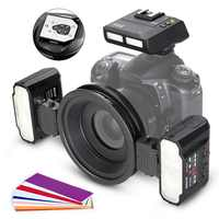 Макро Вспышка Meike MK-MT24CII для Canon DSLR Camera 1100D 1200D 70D 60D 760D 750D 700D 650D 600D 550D 500D 450D 350D