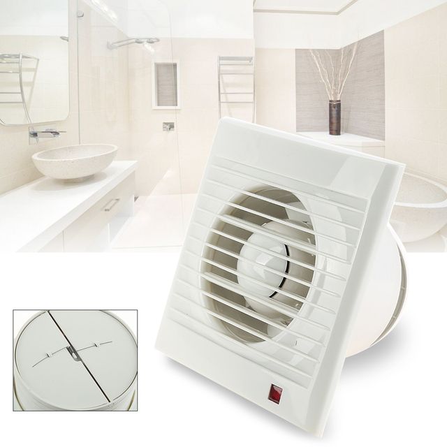 ABS Mini Wall Window Exhaust Fan Bathroom Kitchen Toilets Intervent White  Extractor Fan Air Vent Electric