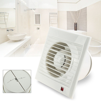 Mini Wall Window Exhaust Fan Bathroom Kitchen Toilets Intervent White Extractor Fan Air Vent Electric For