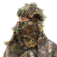 Outdoor Bionic Camouflage Hunting Head Mask Headgear Men Women Camo Hunting Cap Hat Hiking Cycling Camping Headcloth Headscarf