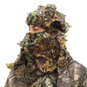 Outdoor Hunting Headgear Bionic Camouflage Hunting Head Mask  Camo Hunting Cap Camping Headcloth Headscarf Fishing Face Mask breathable jungle bionic camo clothes wild hunting suits for hunter oem factory