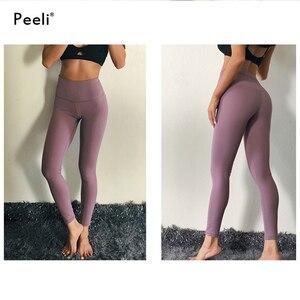 Image 5 - Peeli kadın enerji dikişsiz tayt yüksek bel legacy spor spor tayt karın kontrol Yoga pantolon spor tayt spor