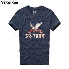 YIRUISEN/, брендовая аппликация на одежду, дизайнерская футболка с коротким рукавом, Мужская футболка из хлопка с круглым вырезом, модные летние футболки
