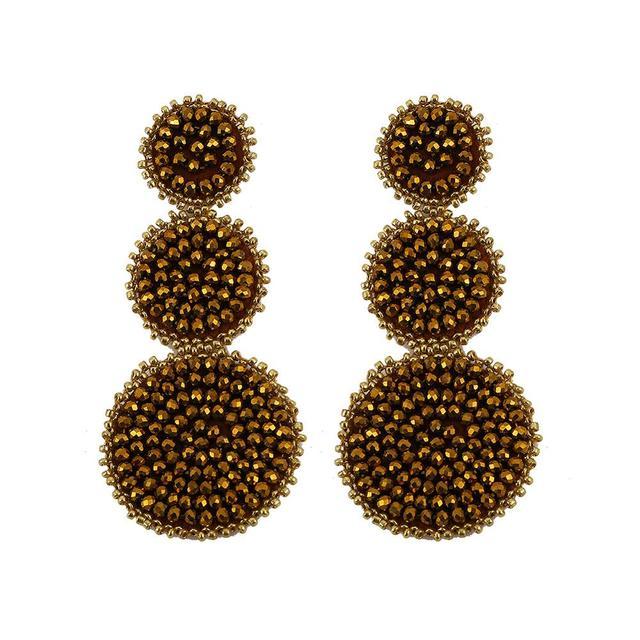 Популярные Длинные с бусинами круглые металлическая Серьга дисплей для женщин