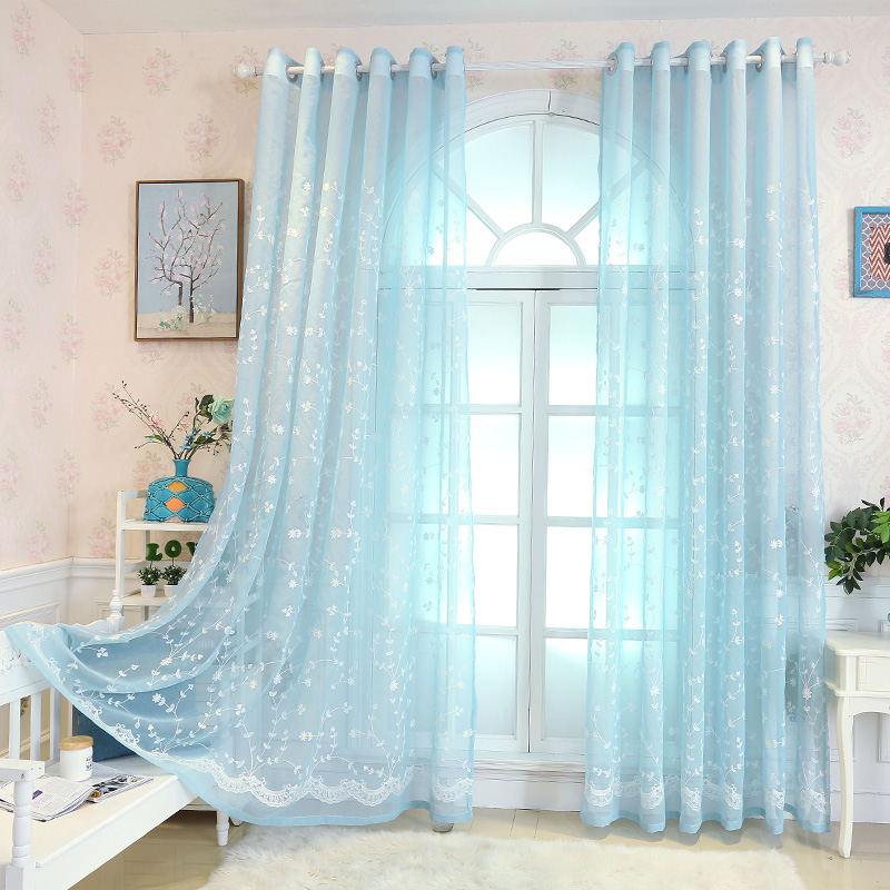 modern fashion curtain panel drapes decorative curtains for bedroom rideaux pour le salon embroidered luxury window - Decorative Curtains