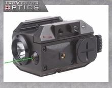 Оптики вектора Blackout тактический пистолет оружие фонарик с зеленый лазерная точка зрения Fit 20 мм Вивера для Glock 17 19