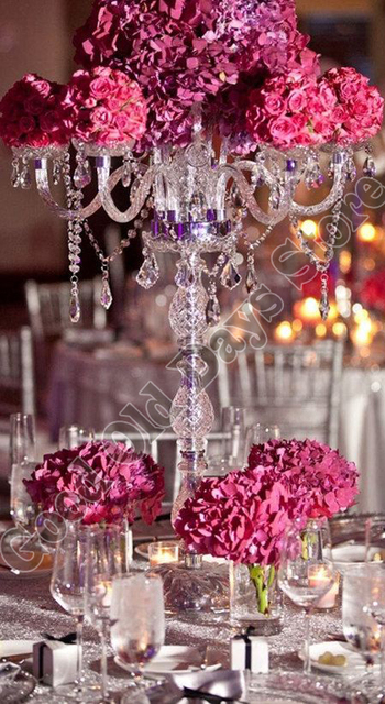 90cm Tall Crystal Wedding Candelabras Wedding Props Table Decor
