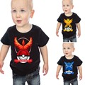 3pcs/lot Kids Boys Summer t shirt  Cartoon Pokemon Go tshirt Boy Costumes Short Sleeves Kids Tops Tees Children Clothing T-shirt