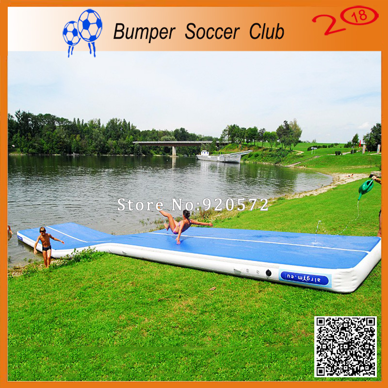 Free Shipping Free Pump 11*2m inflatable water floating air tracks inflatable gym air track Inflatable Gym Mat Trampoline