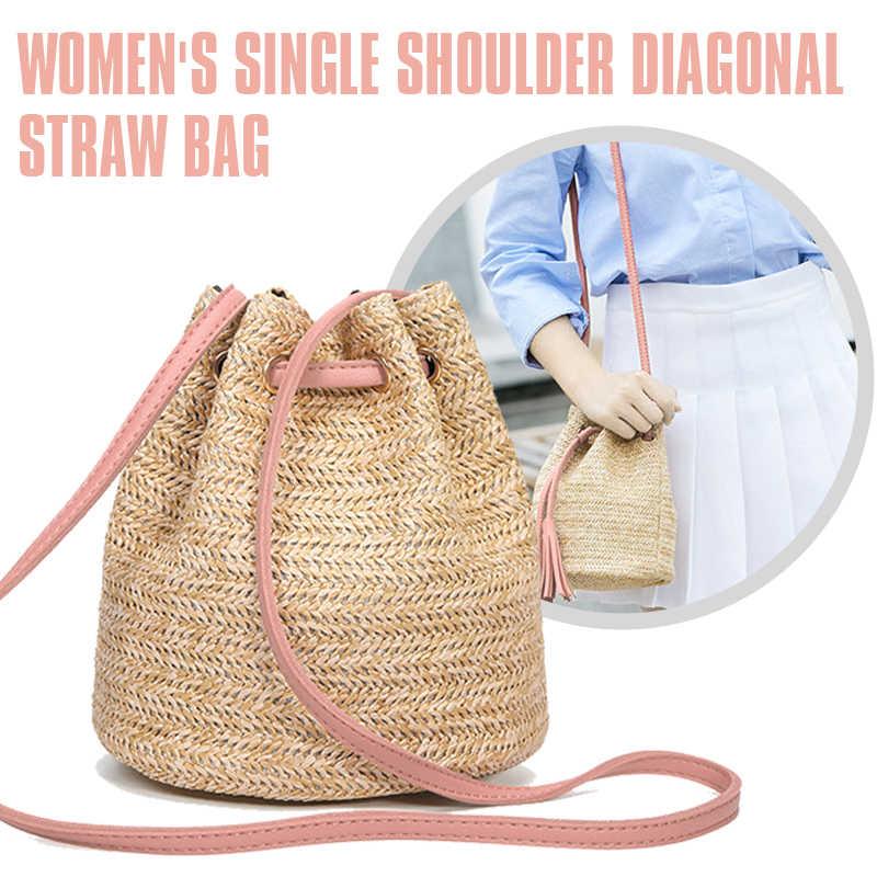 HEBA/Лидер продаж; летняя Соломенная Сумка-ведро; плетеная сумочка; Сумочка с бахромой; сумка в стиле бохо; розовая сумочка