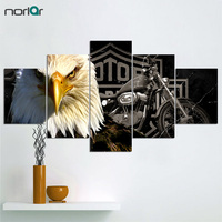 Unframed Hd Printed Eagles Motorcycle Canvas Painting On The Wall Art Modular Pictures 5 Pcs Home