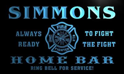 x1092-tm Simmons Home Bar Fire Dept Custom Personalized Name Neon Sign Wholesale Dropshipping On/Off Switch 7 Colors DHL