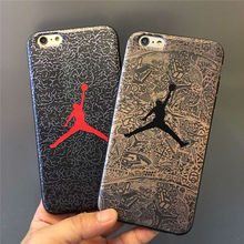 SuperNBA Super Star Air Jordan Soft Cases for iPhone6Plus 5.5inch 6s Premium Leather Mobile Accessories Covers Fundas Movil