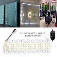 Icoco yüksek kalite 3 m 20 satır + dimmer + adaptörü 5050 modern ayna lambası beyaz ab/us/İngiltere/au tipi 14.4 w kapalı banyo duvar led ışık