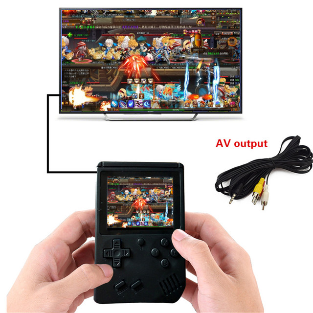 Retro Portable Mini Handheld Game Console 8-Bit 3.0 Inch Color LCD Kids Color Game Player Built-in 168 games