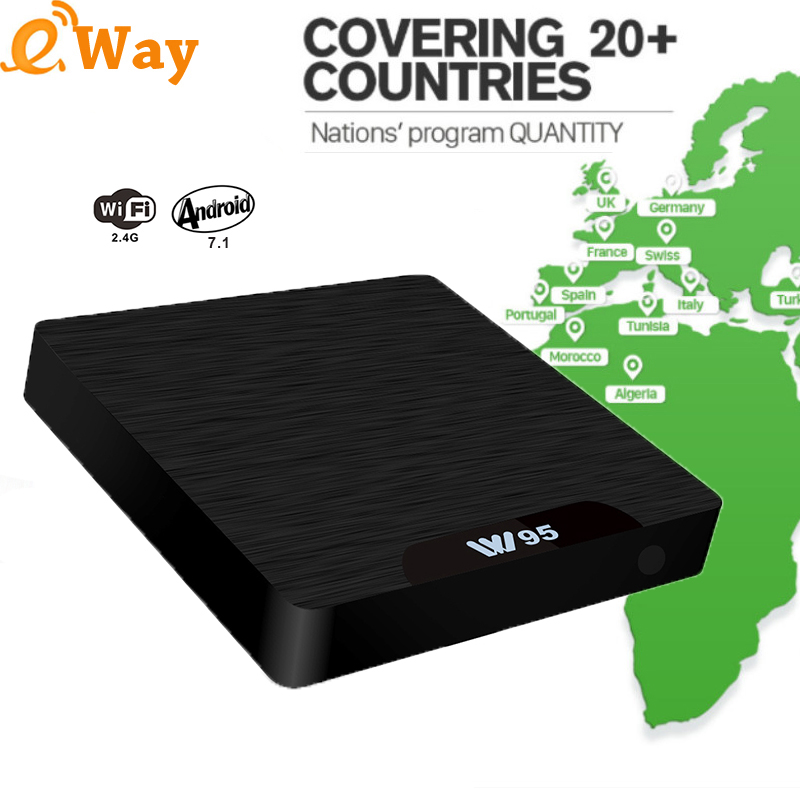 Android TV Box W95 QHDTV 1 Year 1300 Channels Arabic French Belgium IPTV subscription code Live