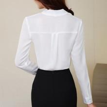 Fashion Elegant Women Chiffon Blouses Office Lady Long Sleeve