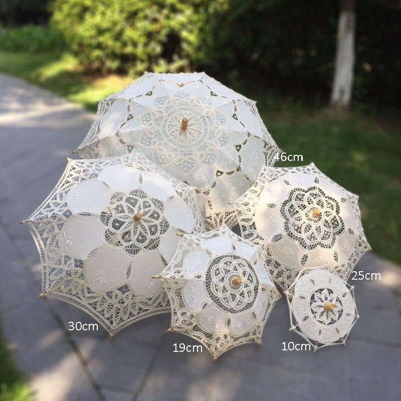 Amelie Lace parasol set beige