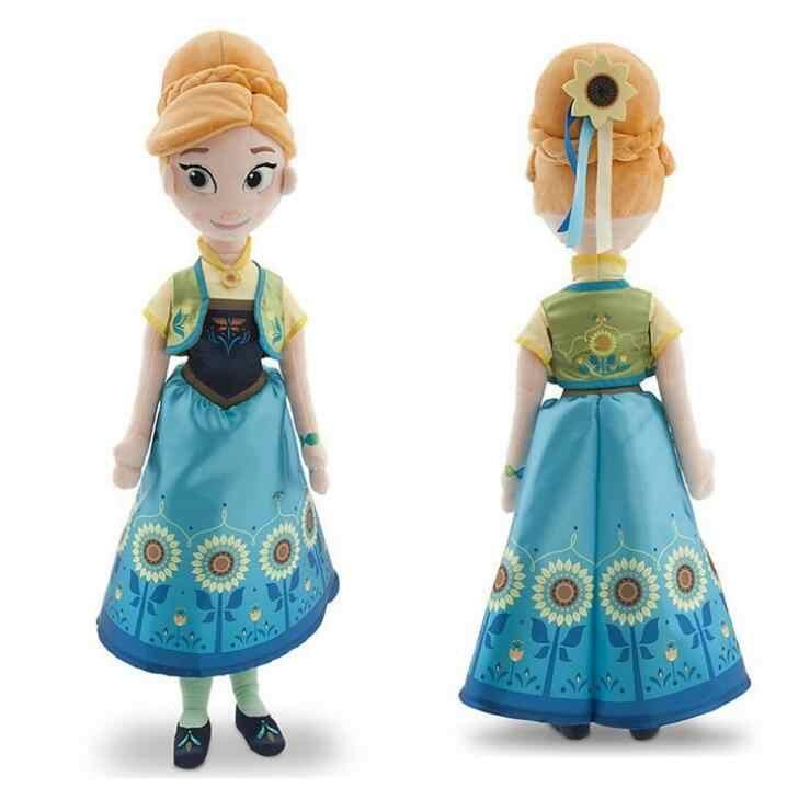 50 см Анна Кукла Эльза s Снежная королева принцесса Анна Кукла Эльза 40 см игрушки мягкие плюшевые детские игрушки День рождения Рождественский подарок