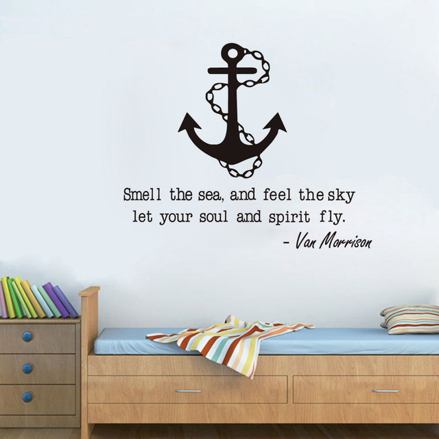 Funny Sailing Quote With Anchor Wall Sticker Home Decor Living Room Removable