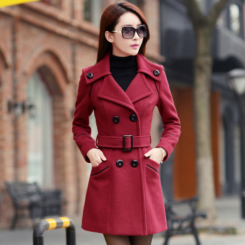 ladies winter coats 2015 double breasted trench coat for women ...