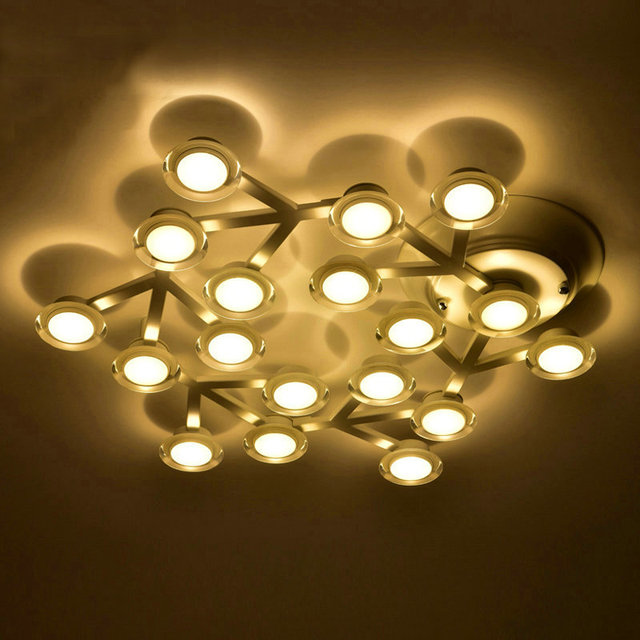 Modern Art Deco White Star Led Ceiling Lights Fixtures Res Lamp For Home Living Room Bed