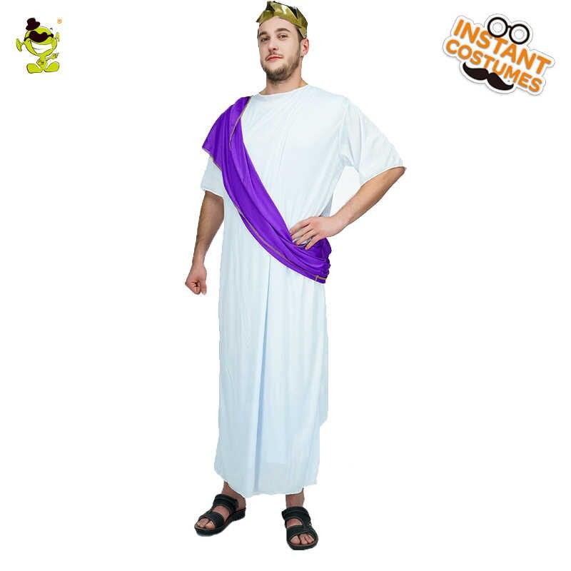 eea899c6e5c ... Для мужчин s римские благородный костюм ДЕШЕВЫЕ роман взрослых  благородный греческий White Toga Цезарь Для мужчин