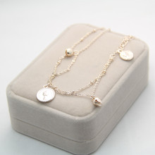 Rose Gold Coin Bell Chain Ankle Bracelet Anklet for Women Wholesale CA026