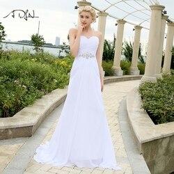 ADLN Stock Chiffon Wedding Dresses with Rhinestones Robe de Mariage Sweetheart vestido de noiva Cheap Beach Bridal Gowns 1