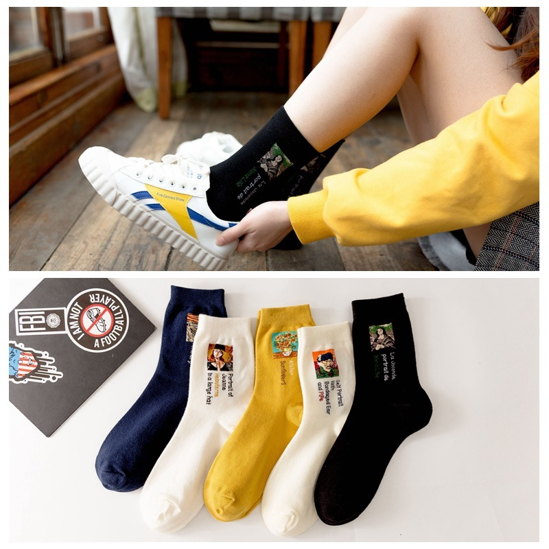 2019 Newest Hot <font><b>3D</b></font> <font><b>Retro</b></font> <font><b>Painting</b></font> <font><b>Art</b></font> <font><b>Socks</b></font> <font><b>Unisex</b></font> <font><b>Women</b></font> <font><b>Men</b></font> <font><b>Funny</b></font> Novelty Starry Night Vintage <font><b>Socks</b></font> <font><b>Unisex</b></font> tmall image
