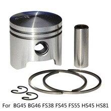 34MM FOR Stihl BG45 BG46 FS38 FS45 FS55 HS45 HS81 Trimmer Blower Piston Kit 1*Piston+1*Pin+2*Rings+2*Circlips For 42370302002 цены онлайн
