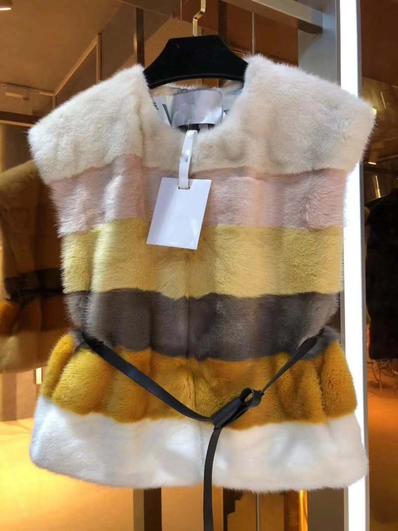 Chaquetas mujer invierno 2018 wild sleeveless jacket simple fashion fur women's vest amazing color matching female gilet vadim