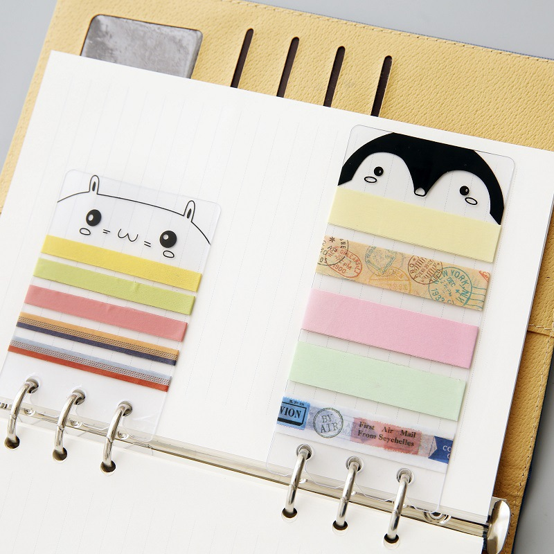 Cartoon Animal Washi Tape Storage Portable PVC Boards Japanese Masking Tape Carry Board for Travel's Notebooks Planner Diary