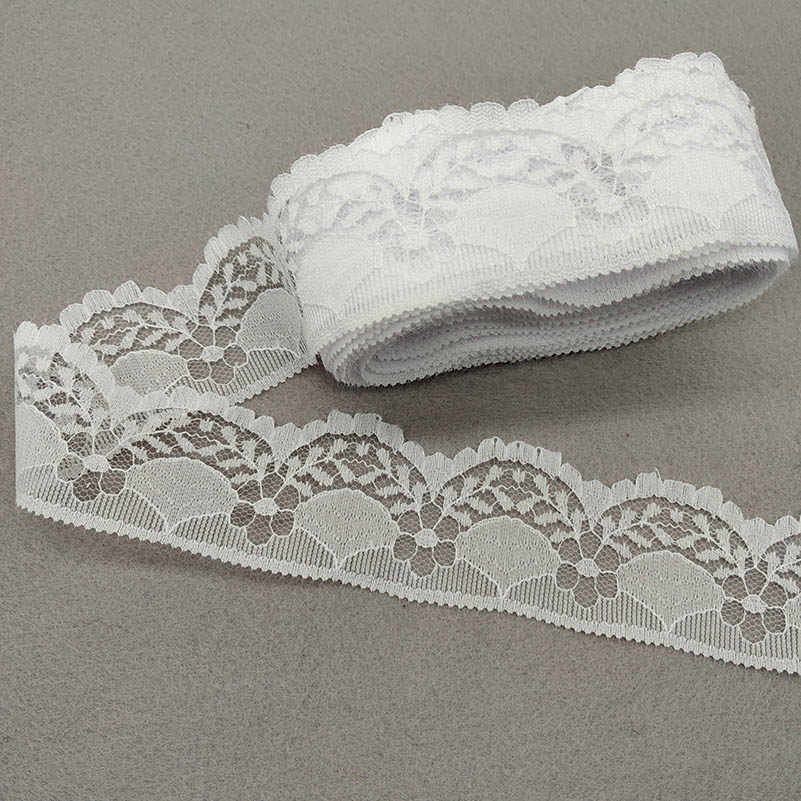2yard 40mm Trim Cotton Crocheted Lace Ribbon Sewing Decoration DIY Craft Apparel
