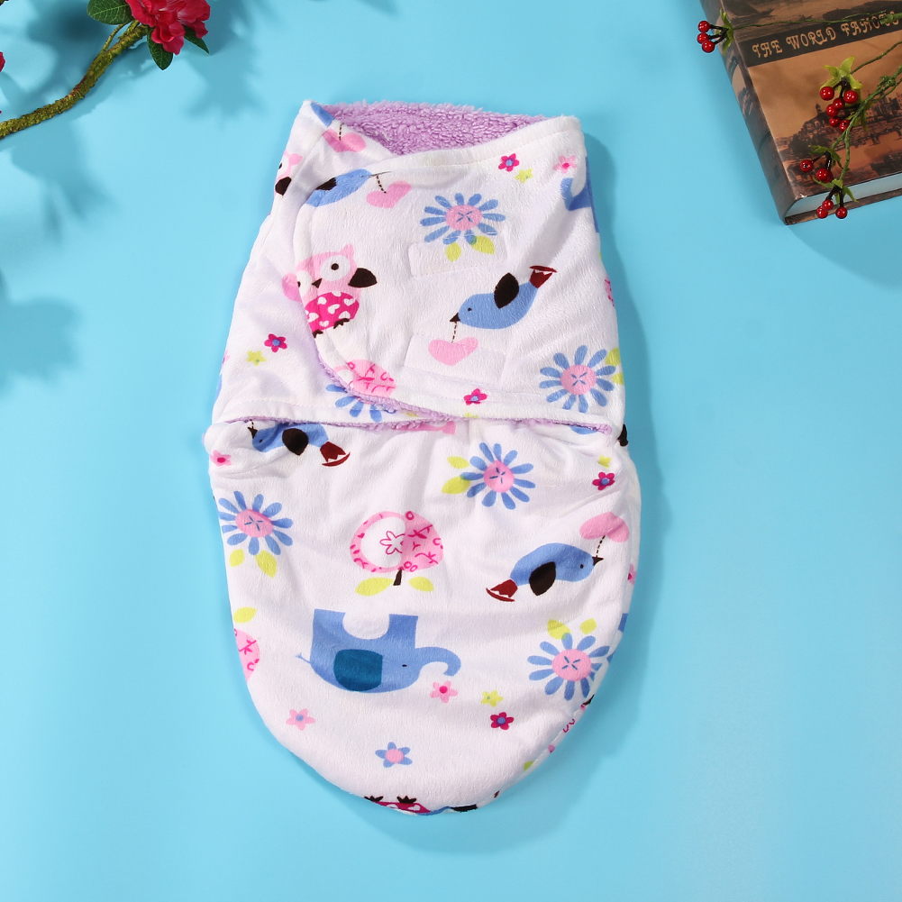 Super-Soft-Baby-Sleeping-Bag-Clothes-Double-Layer-Short-Plush-Baby-Blankets-Swaddle-Wrap-Winter-Newborns-Envelope-Quilt-Blanket-1