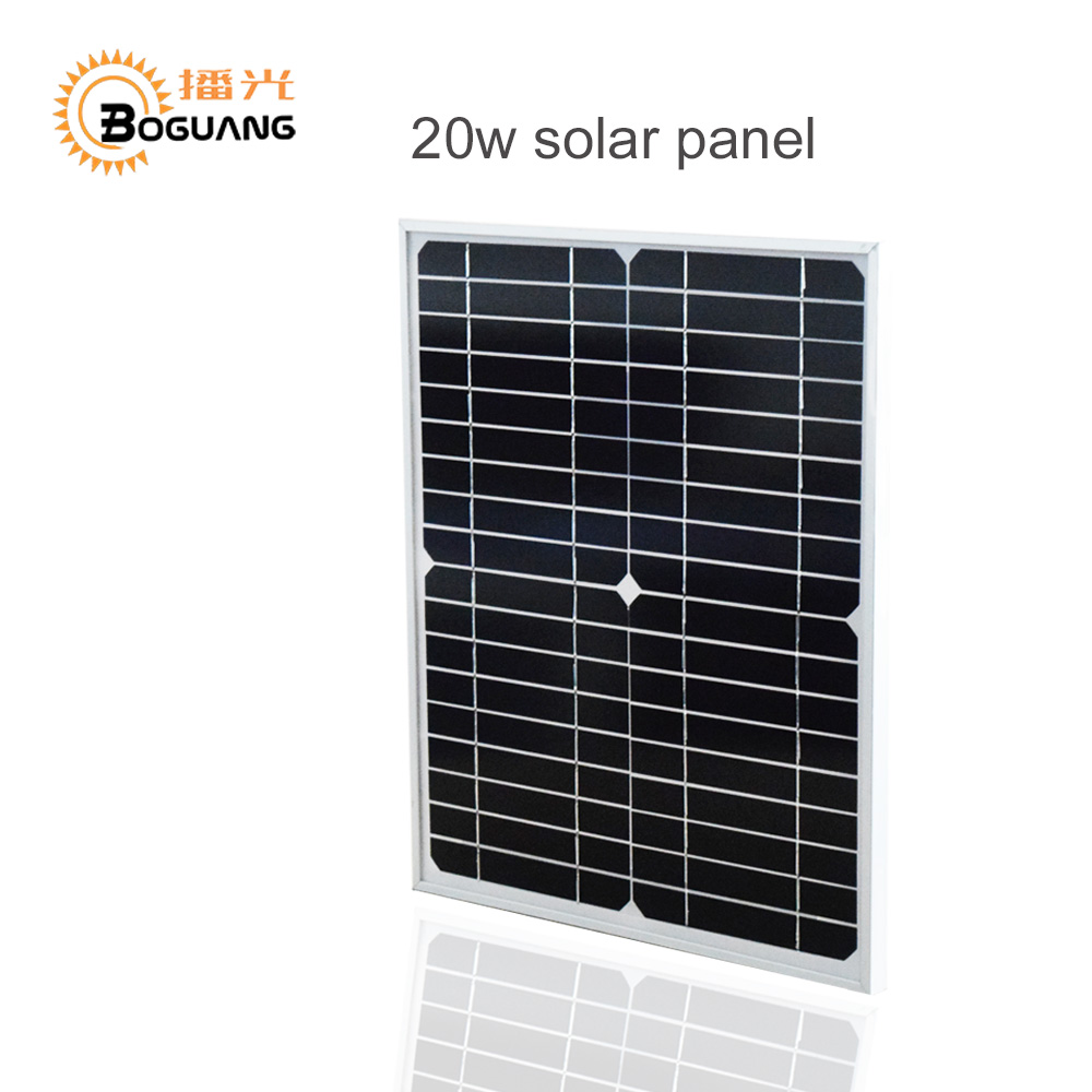 BOGUANG 20W 18V monocrystalline solar panel module cell system 12V DIY kits for toys light led science toy experiment outdoor