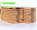 HAPPYXUAN 1000pcs 55*6*2mm Nature Color Wood Icecream Stick Wooden Popsicle Sticks Kids DIY Art Crafts Materials Creative Toys