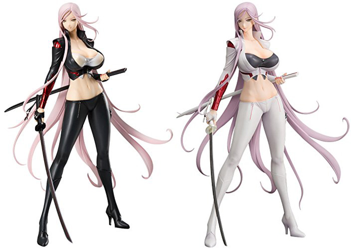 New Orchid Seed Yuuko Yuko Sagiri Tomoko Darkness With 2 Swords Triage X Sexy Two Color Version 32cm Action Figure swords of glass