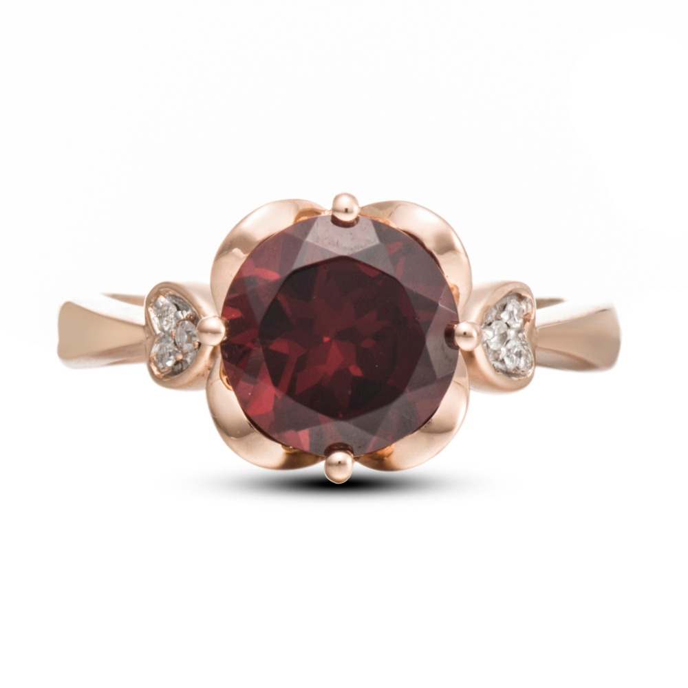 natural rhodolite image ring raspberry rings ruby garnet pink