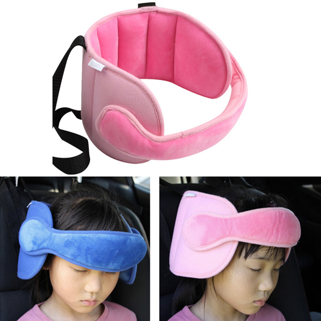 Safety Car Seat Head Support Sleep Pillow Kids Neck Stroller Soft Travel Sleeping Strap FJ88