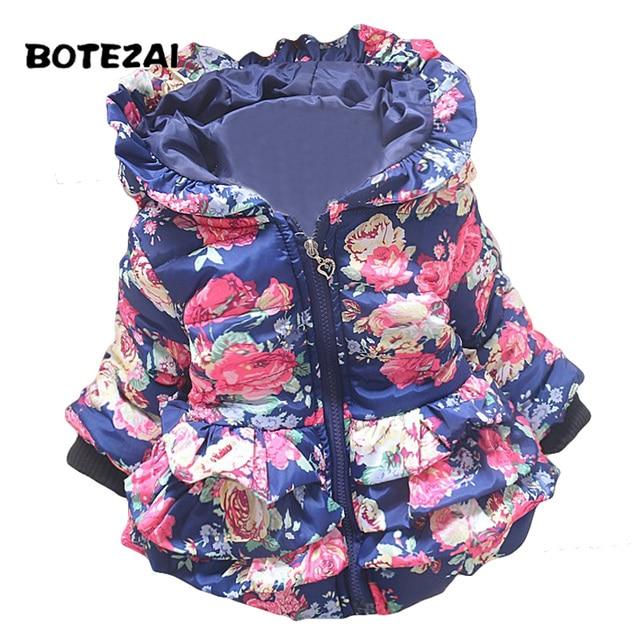 5129ca2c8 New baby girl s flower jacket coats girl outerwear autumn Winter ...