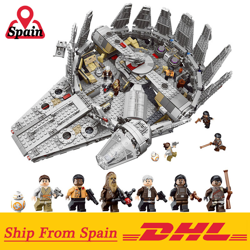 DHL 05007 Millennium Falcon building blocks Force Awakens StarWars toys compatible With Legoing 75105 Model Bricks Kids GiftsDHL 05007 Millennium Falcon building blocks Force Awakens StarWars toys compatible With Legoing 75105 Model Bricks Kids Gifts