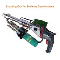 Горячий воздух сварочный аппарат Lesite HDPE Сварочный аппарат выдавливание пистолет для пайки геомембраны PP, PE, PVC, PVDF бак для воды LST610D