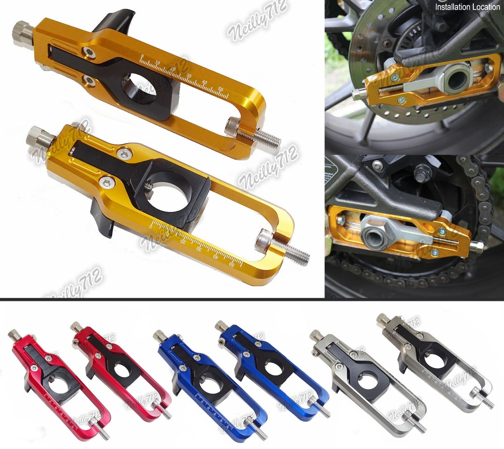 waase CNC Aluminum Chain Adjusters Tensioners Catena For Yamaha YZF R1 2009 2010 2011 2012 2013 2014 motorcycle cnc aluminum chain adjusters tensioners catena for yamaha yzf r1 2007 2008 red blue gold gray chain adjusters