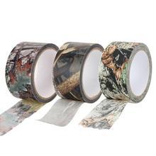 10メートル防水枯葉迷彩布テープ銃狩猟アウトドアキャンプ迷彩ステルステープラップ狩猟銃用のアクセサリー