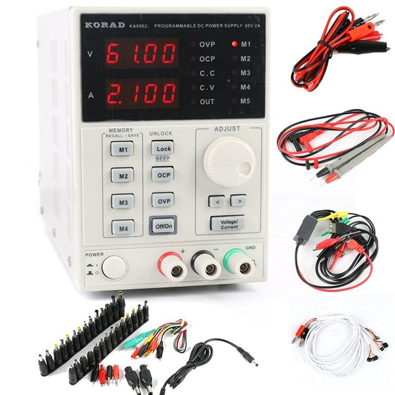 KORAD KA6002D interrupteur de laboratoire Programmable numérique réglable de précision alimentation cc 60 V 2A 4 Ps mA + AC kit de réparation de Jack cc