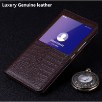Open window For Huawei honor9 STF AL00 case shell Luxury Genuine leather for Huawei honor 9 Case Flip Protective Phone Cover