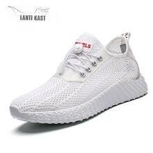 купить Hot Sale Light Mesh Breathable Walking Running Shoes Men Athletic Trainers Male Sports Footwear Outdoor Sneakers Men дешево